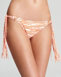 Pilyq Burnt Sienna Tasseled Tie Full Bikini Bottom - Lyst