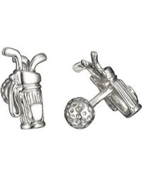 Robin Rotenier - Rotenier Sterling Silver Golf Set Cufflinks - Lyst