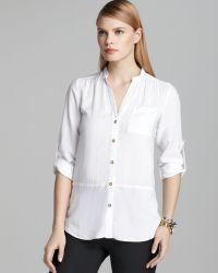 Spense - Mandarin Collar Shirt with Tulip Back - Lyst