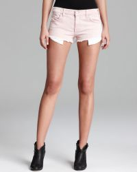 Textile Elizabeth and James - Shorts Dixon in Red Conductor Stripe - Lyst