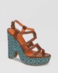 Via Spiga Platform Sandals Cai High Heel - Lyst