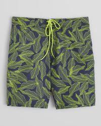 Victorinox - Printed Leaf Board Shorts - Lyst