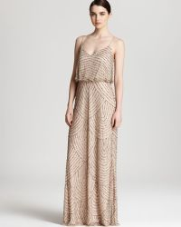 Adrianna Papell Beaded Dress - Long Blouson - Lyst