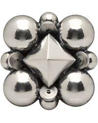 Bottega Veneta - Sterling Silver Pin - Lyst