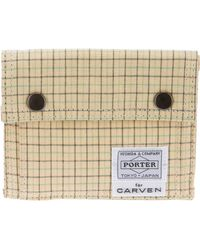 Carven - Checked Canvas Wallet - Lyst
