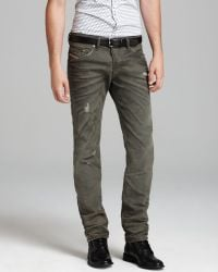 Diesel Jeans Belther Slim Fit in Army - Lyst