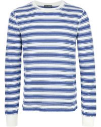 Dolce & Gabbana Striped Cotton T-shirt - Lyst