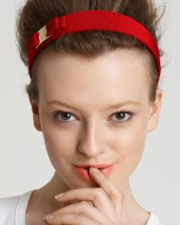 Ferragamo Thick Headband with Bow - Lyst