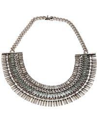 Janis Savitt - Silvertone Necklace - Lyst