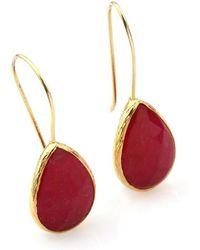 Toosis Rubby Red Drop Earrings - Lyst