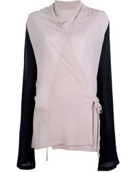 Ann Demeulemeester Bicolour Double Sided Top - Lyst