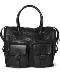 Belstaff | Carnegie Textured leather Tote Bag | Lyst