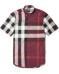 Burberry Brit - Slimfit Plaid Cotton Shirt - Lyst
