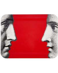 Fornasetti | Profili On Red Tray | Lyst