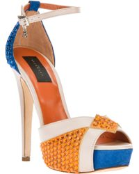 John Richmond - Crystal Embellished Sandal - Lyst