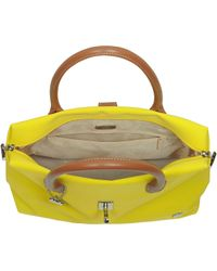 La Bagagerie - Shopping X Yellow Fabric and Leather Tote - Lyst