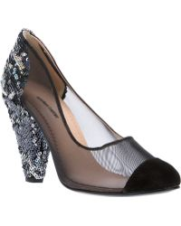 Markus Lupfer - Net And Sequined Pump - Lyst