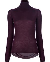 Aimo Richly - See Through Back Roll Neck Sweater - Lyst