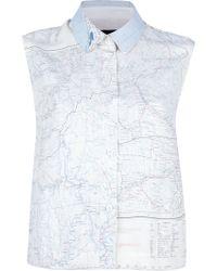 Christopher Raeburn - Sleeveless Map Print Shirt - Lyst