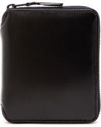 Comme Des Garçons Polished Leather Card Wallet - Lyst
