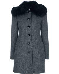 Dolce & Gabbana Structured Coat - Lyst