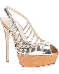 Giorgio Armani - Strappy Platform Sandal - Lyst