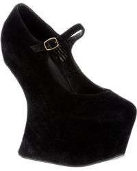 Jeffrey Campbell Chamois Leather Heelless Platform - Lyst