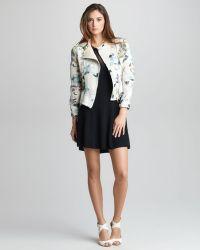 3.1 Phillip Lim Floralprint Corded Silk Moto Jacket - Lyst