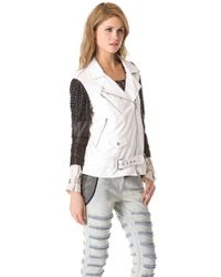 3.1 Phillip Lim - Trifecta Studded Leather Jacket - Lyst