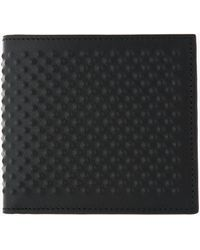 Alexander McQueen Black Leather Covered Stud Bifold - Lyst
