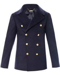 Alexander McQueen Wool and Cashmere Peacoat - Lyst