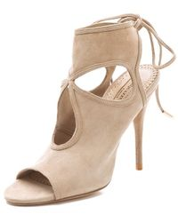 Aquazzura - Sexy Thing Cutout Booties - Lyst