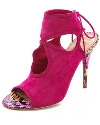 Aquazzura - Sexy Thing Suede Booties - Lyst