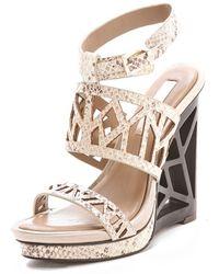 BCBGMAXAZRIA - Sato Wedge Sandals - Lyst