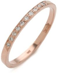Blanca Monros Gomez - 10 Diamond Band Ring - Lyst