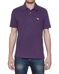 Burberry Brit Cotton Piquet Stretch Polo Shirt - Lyst