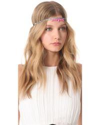 Dauphines of New York - Silver Screen Goddess Headband - Lyst