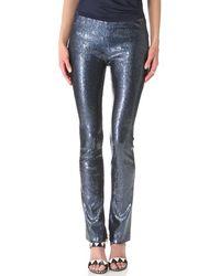 Donna Karan New York Sequined Pants - Lyst