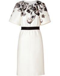 Giambattista Valli Wool-Silk Flower Print Dress - Lyst