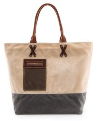 Graf & Lantz - Parker Boat Bag in Waxed Canvas - Lyst