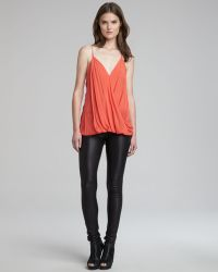 Helmut Lang Stretch-Leather Skinny Pants - Lyst