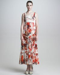 Jean Paul Gaultier Womens Tiered Floral Maxi Dress - Lyst