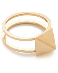 Jennifer Zeuner - Double Band Square Stud Ring - Lyst