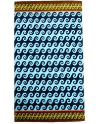 Jonathan Adler Aegean Waves Beach Towel blue - Lyst