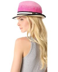Juicy Couture - Ombre Straw Fedora - Lyst