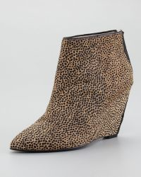 Juicy Couture - Astor Calf Hair Wedge Bootie - Lyst