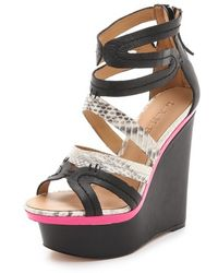 L.A.M.B. - Jenelle Wedge Sandals - Lyst