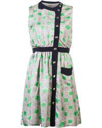Lauren Moffatt - Sleeveless Garden Print Dress - Lyst