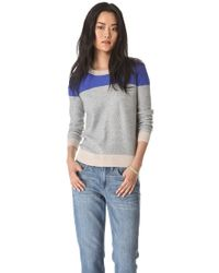 Madewell Basket Weave Colorblock Pullover - Lyst