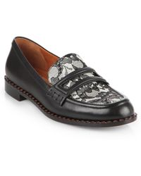 Marc By Marc Jacobs London Calling Leather Lace Loafers - Lyst